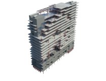 Barcode structure above with section box around two elevator shafts