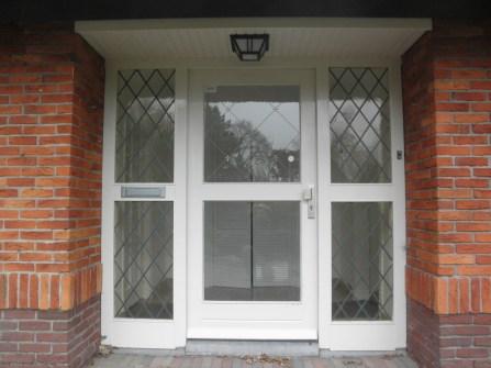 Aanzicht voor plaatsing glas in lood ramen