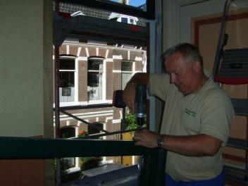 Montage glas in lood ramen