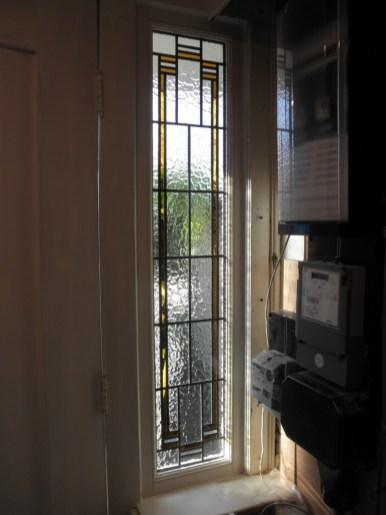 Binnenaanzicht na restauratie ruit