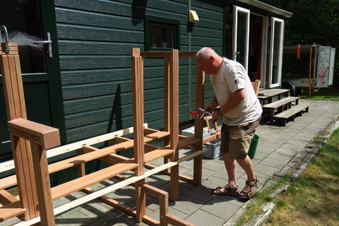 Opbouw nieuwe trap op locatie