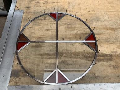 Nieuwe ronde glas in lood ruit maken