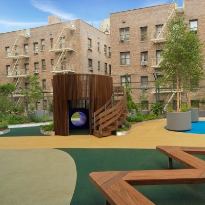 Rooftop garden in New York City for school children by Highview Creations