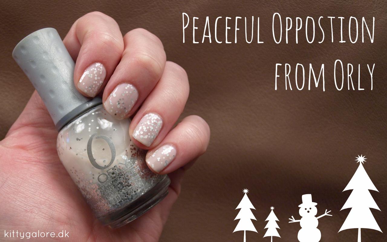 Orly Peaceful oppostion nail polish neglelak naked nails