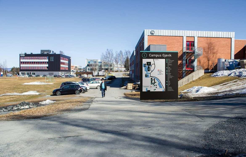 Campus Gjøvik - Veifinning