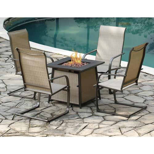 shiner falls brown 5 piece fire pit