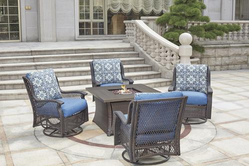 allenwood 5 piece deep seating fire pit