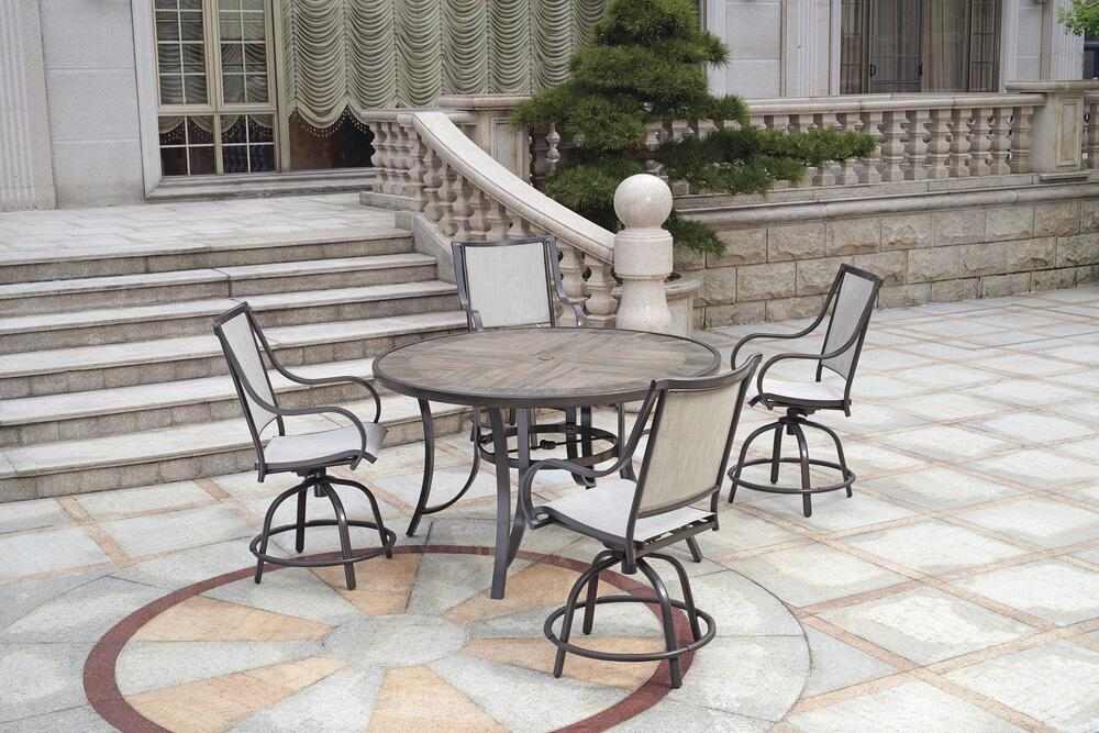 5 piece high dining patio set