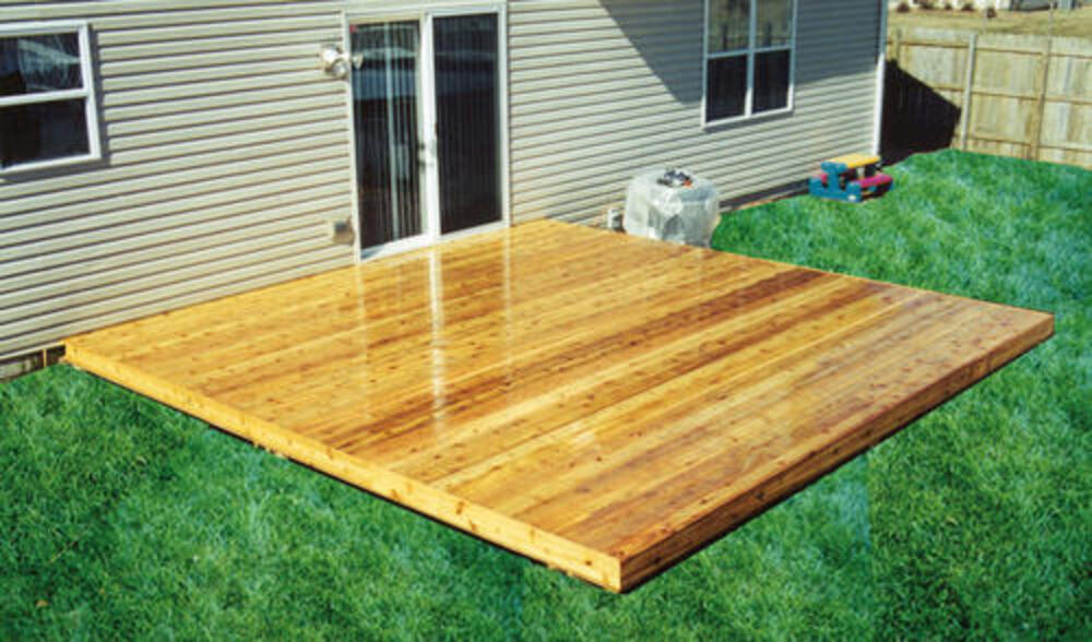 12 x 12 freestanding patio deck