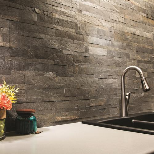 stick stone backsplash tiles at menards