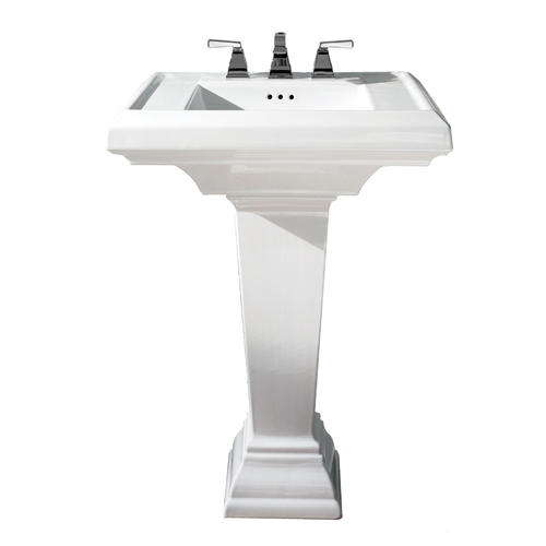 d rectangle bathroom pedestal sink