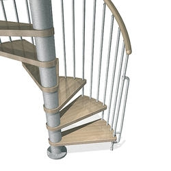Spiral Staircases At Menards®   10 Ft Spiral Staircase   Arke Eureka   Balcony Railing   Lowes   Gray Interior   Attic Staircase
