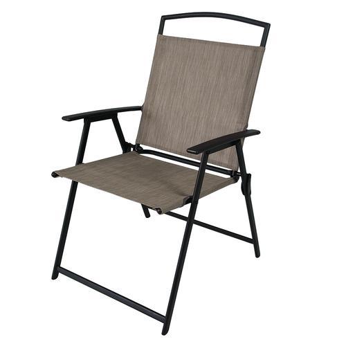 tan folding patio chair at menards