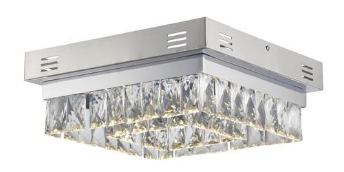 elnora chrome led flush mount ceiling