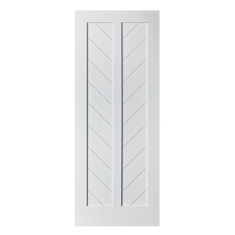 Colonial Elegance Chevron Model Primed White Barn Door At Menards