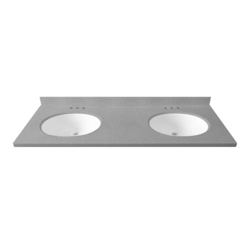 61 w x 19 d solid surface vanity top