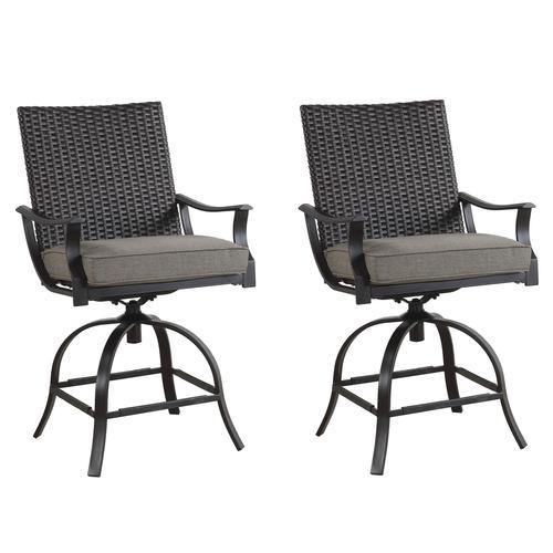 high dining swivel patio chair set