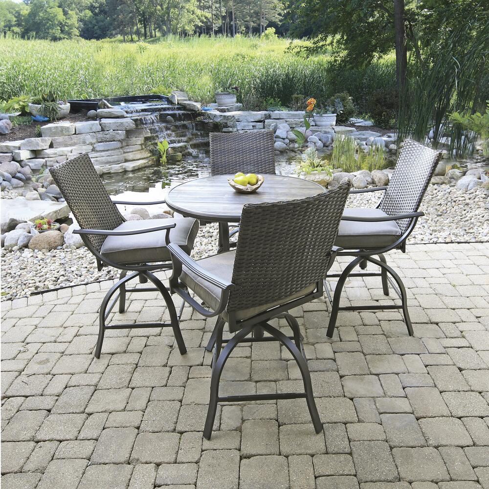 pine meadow brown 5 piece high dining