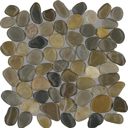 oasis pebble 12 x 12 stone mosaic tile