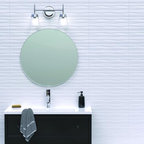 vivant wavy 6 x 18 ceramic wall tile at