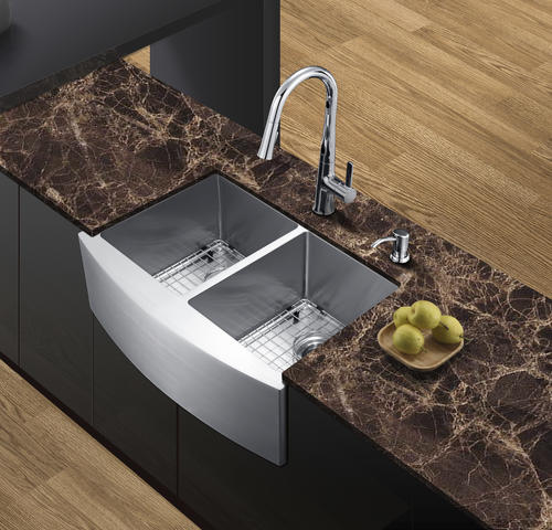 tuscany farmhouse apron front 30 stainless steel double on farmhouse sink lowest price id=15996