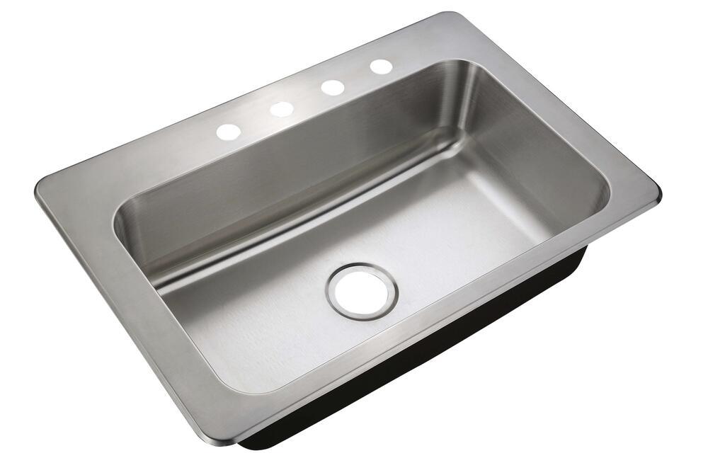 4 hole single bowl kitchen sink