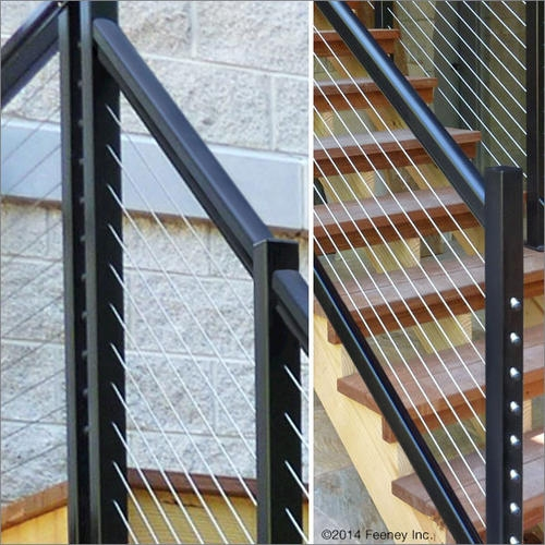 Feeney® Designrail® Quick Connect® End Post Kit For 36   Outdoor Stair Railing Menards