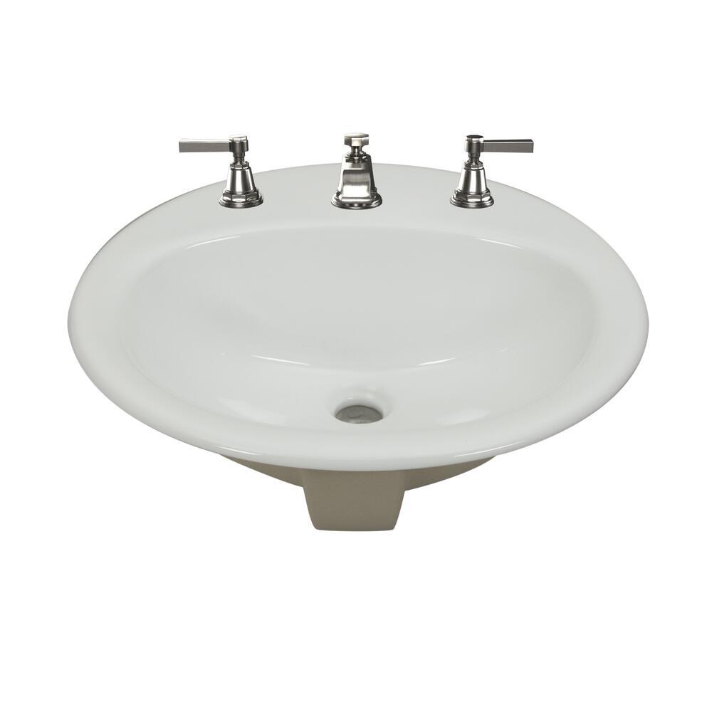 d oval drop in bathroom sink