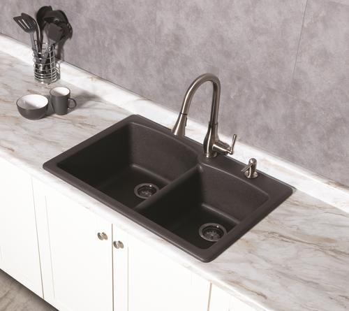 hole double bowl kitchen sink kit