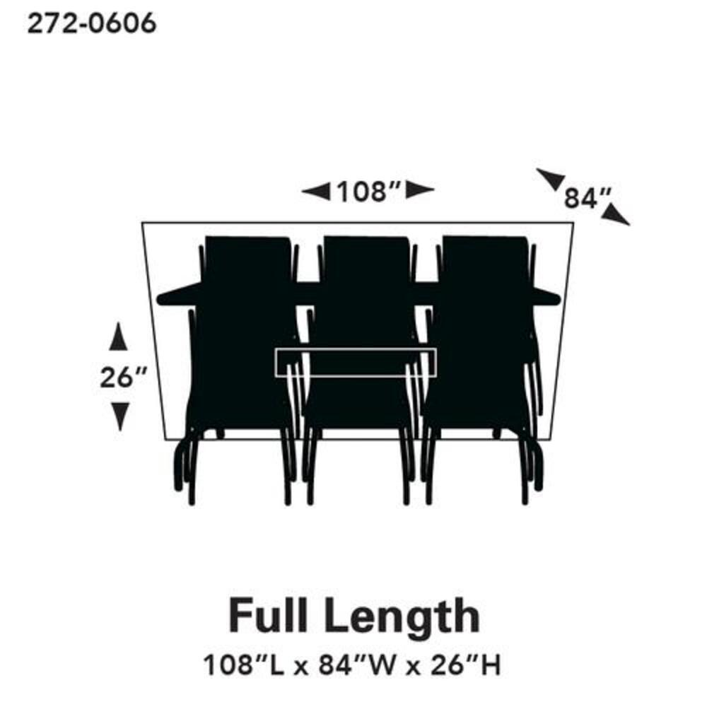 premium rectangle oval patio set cover