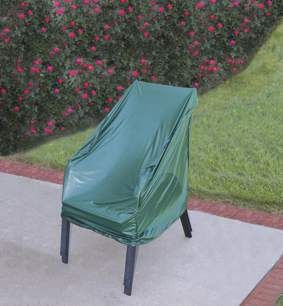 basic stackable patio chair cover at