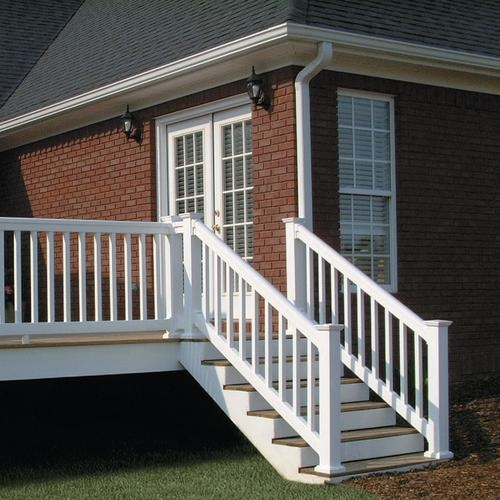 Fypon® Quickrail® Premium Stair Rail Kit With Square Spindles At | Deluxe Stair And Railing | Stainless Steel Stairs | Houzz | Barclay Hollywood | Mg Alloy | Interior Stair