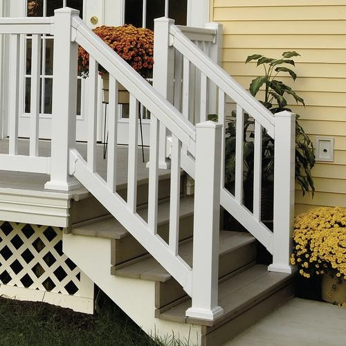 Fypon® Quickrail® Premium Stair Rail Kit With Square   Outdoor Stair Railing Menards