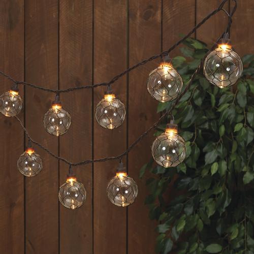 10 light wire patio string light