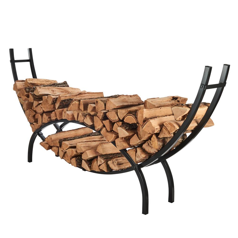 shelter 96 firewood crescent log rack