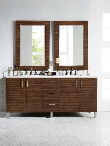 american walnut bathroom vanity cabinet