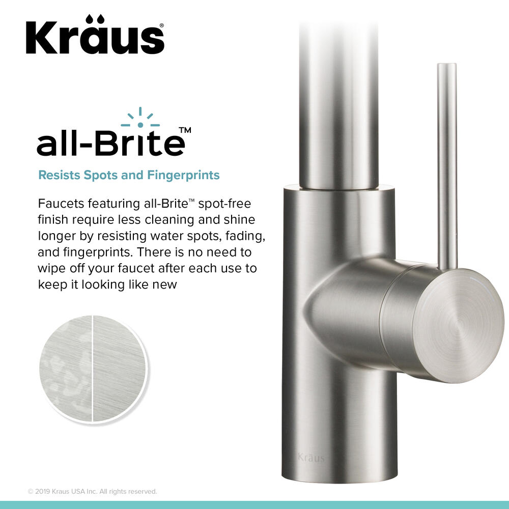 kraus oletto one handle pull down