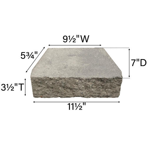 3 1 2 X 11 1 2 Crestone Straight Retaining Wall Block At Menards