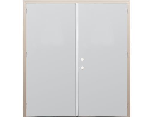 primed steel flush exterior double door