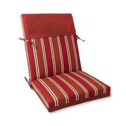 sangria stripe reversible patio chair