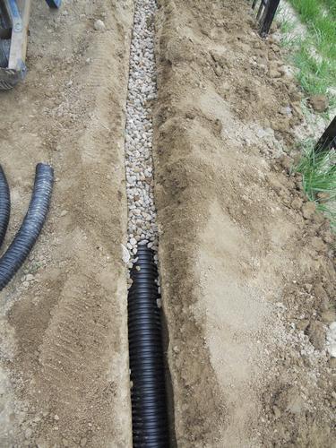 corrugated drain pipe at menards