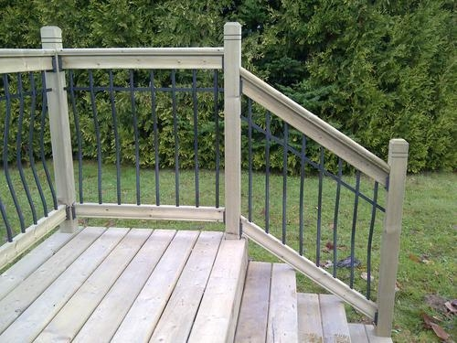 Vista Tuscany 6 Stair Deck Railing Kit Treated At Menards® | Outdoor Stair Railing Menards