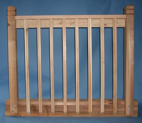 Real Wood 2 X 2 X 42 Cedar Beveled One End Beaded Spindle At Menards®   Wood Baluster Deck Railing   Temporary   Surface Mount   Pre Built   Side Mounted   Hardwood