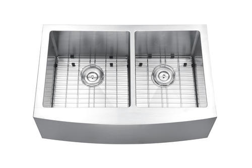 ruvati 33 apron front workstation low divide double bowl on farmhouse sink lowest price id=44668