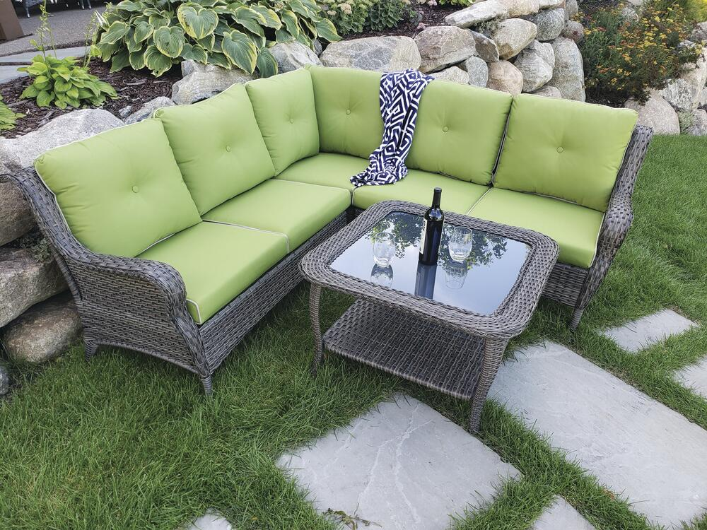 palmer sectional seating patio set at