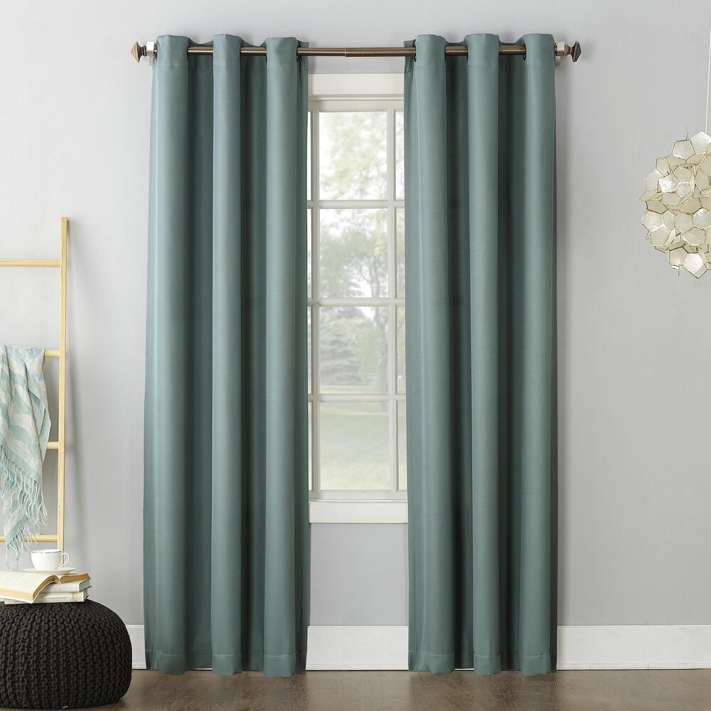 no 918 montego 48 w x 84 l light filtering grommet top curtain panel at menards