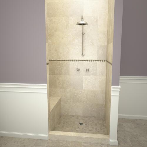 base n bench single curb shower pan