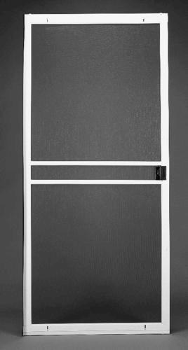 white premium sliding patio screen door