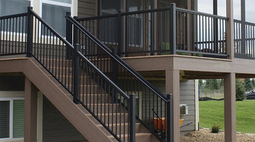 Williams Preassembled Powder Coated Aluminum Railing Panel At Menards® | Aluminum Railings For Steps | Verandah | Glass Railing | Pipe | Indoor | Glass Panel Wooden Handrail