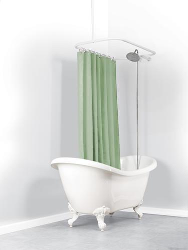 white hoop shower curtain rod
